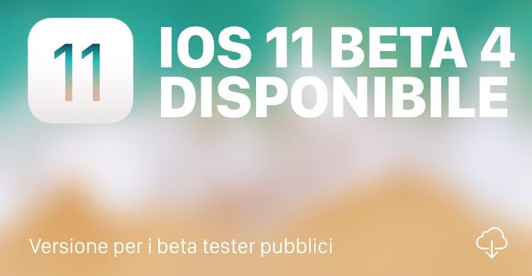 Apple rilascia la quarta beta pubblica di iOS 11