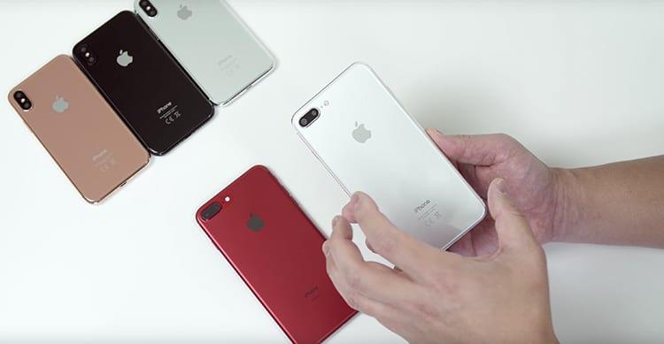 """iPhone 8 e iPhone 7s: confronto tra i due smartphone e la nuova colorazione """"oro-rame"""" [Video]"""