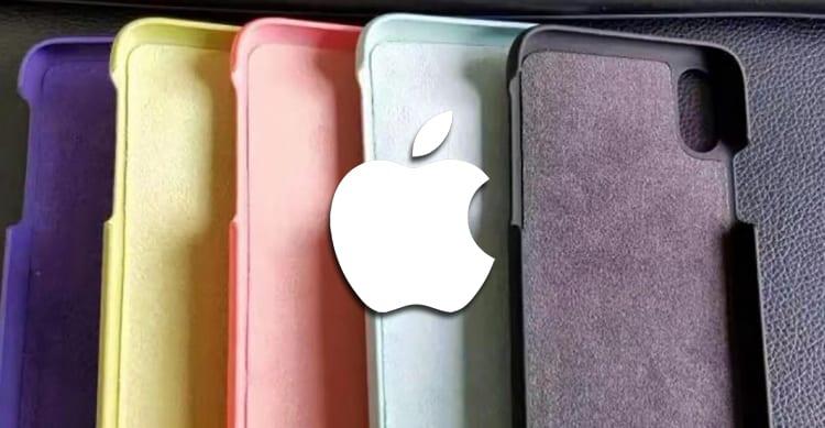 Sono queste le cover originali Apple in silicone e pelle per iPhone 8?