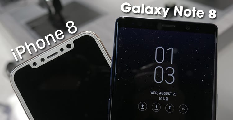 iPhone 8 Galaxy Note 8