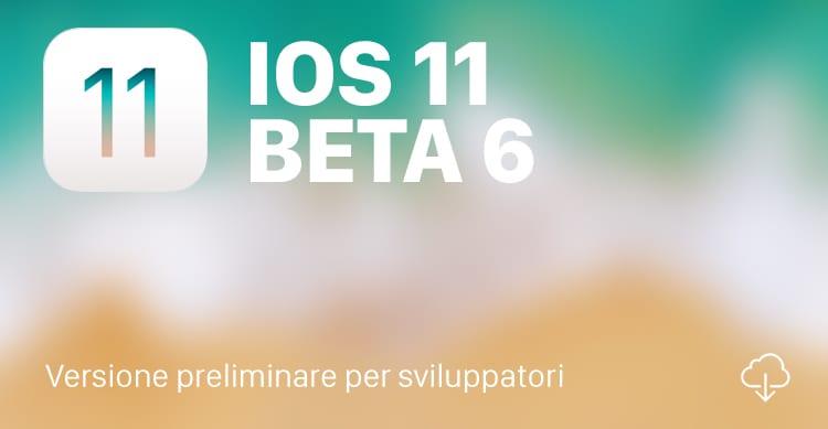 iOS 11 beta 6