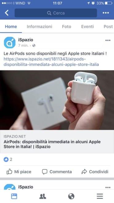 Facebook iSpazio