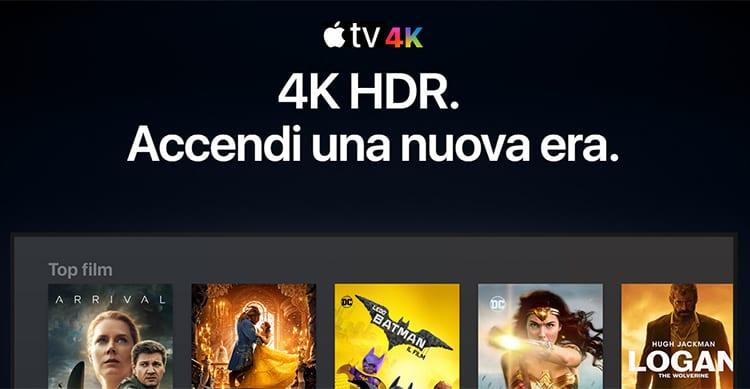 I film in 4k hdr arrivano su itunes in vista del lancio for Distanza tv 4k