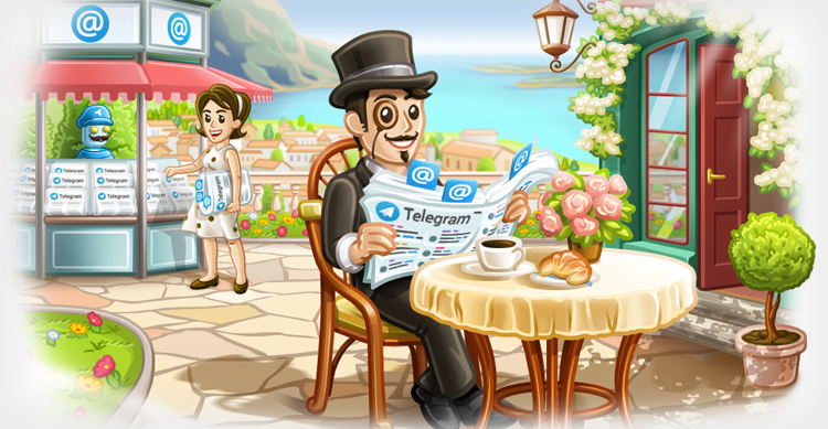 Telegram badge