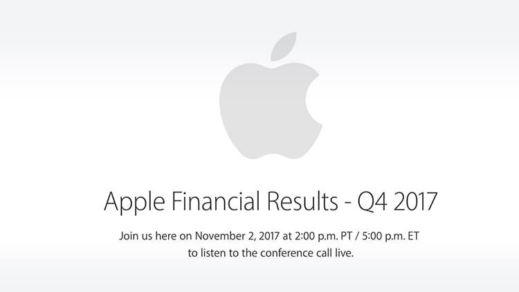 Apple fissa per il 2 Novembre la conferenza sui risultati finanziari del Q4 2017