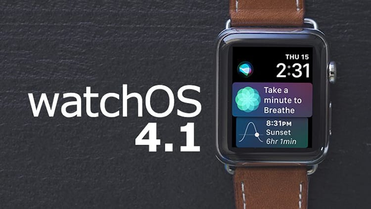 Apple rilascia watchOS 4.1
