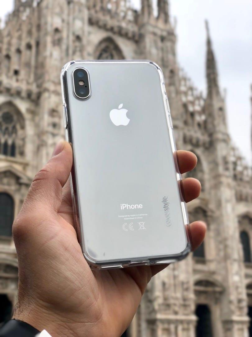 custodia iphone x argento