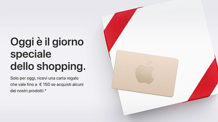 Ecco il Black Friday di Apple in Italia: Fino a 150€ di Carte Regalo