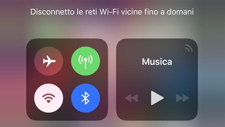 iOS 11.2 beta 3 aggiunge gli avvisi di disattivazione sui toggle WiFi e Bluetooth nel Centro di Controllo