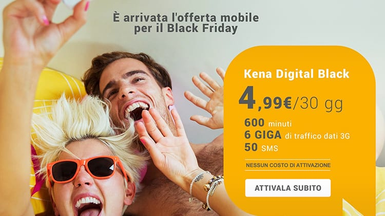 Kena Mobile sorprende tutti: 600 minuti, 6GB e 50 SMS al mese a soli 4,99€!