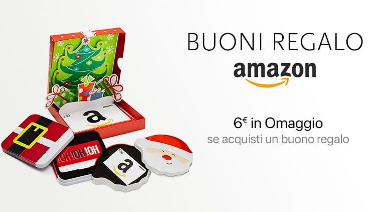 Amazon regala 6 di buono sconto a chi acquista un buono for Promozione buono regalo amazon