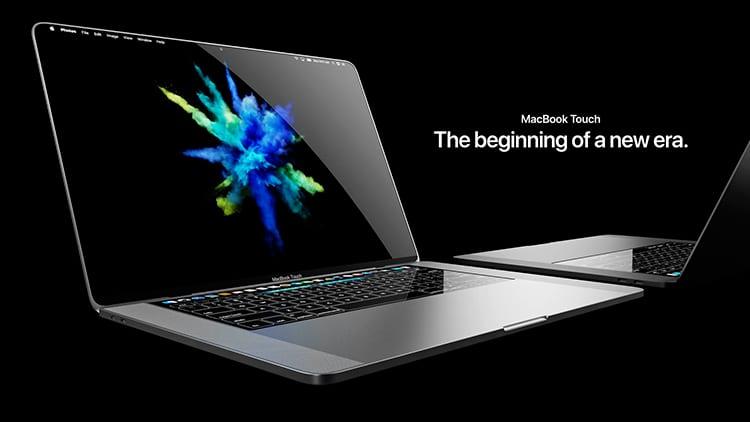 Il concept del MacBook Touch, il MacBook che (forse) non vedremo mai