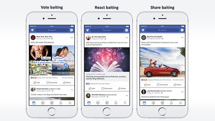 Facebook penalizzerà i post e le pagine che sfruttano le Reaction per ottenere visibilità