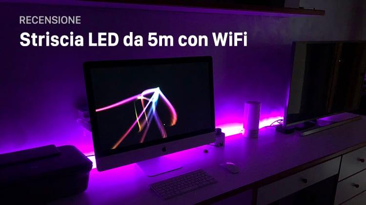 Recensione Striscia LED da 5 metri con WiFi, in grado di creare una bellissima atmosfera in ogni stanza