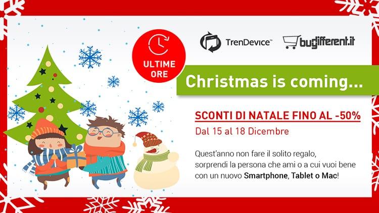 Ultime ore: Gli Sconti di Natale fino al -50% su TrenDevice e BuyDifferent terminano oggi