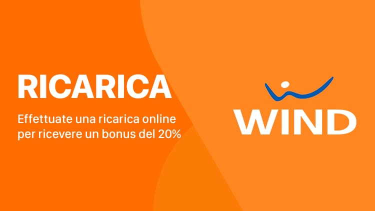 Wind offre il 20% di credito in più per ogni ricarica effettuata online