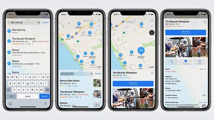 Le Mappe di Apple segnalano i servizi di bike sharing in 179 nuove città