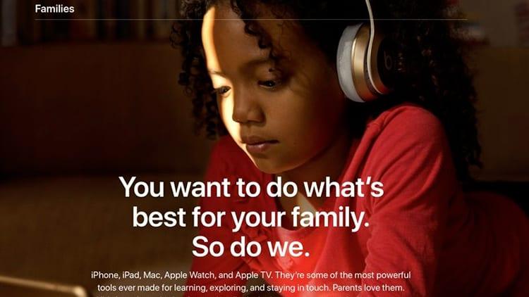Apple lancia una nuova pagina web dedicata alle funzionalità per il parental control