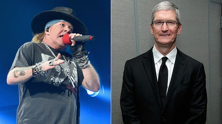 Axl Rose, frontman dei Guns N' Roses, su Tim Cook: «è il Donald Trump dell'industria musicale»