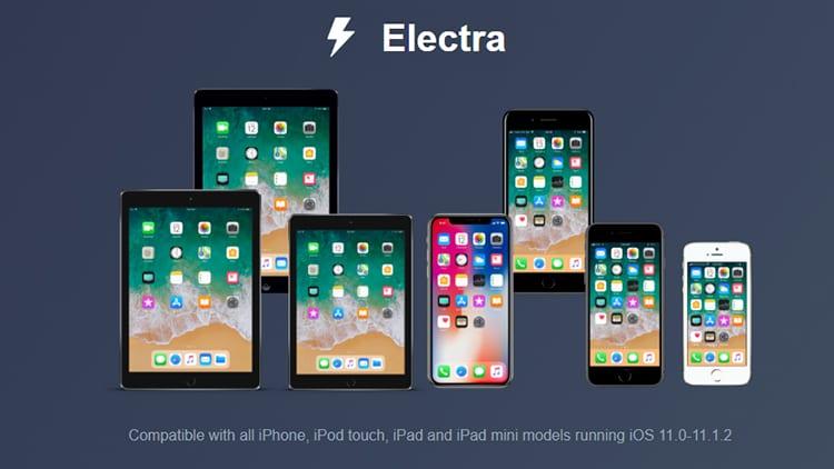 Il Jailbreak Electra per iOS 11.0-11.1.2 è ufficialmente disponibile