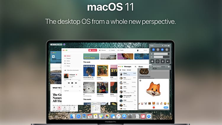 Concept macOS 11: applicazioni universali, nuova interfaccia semplificata ed altro