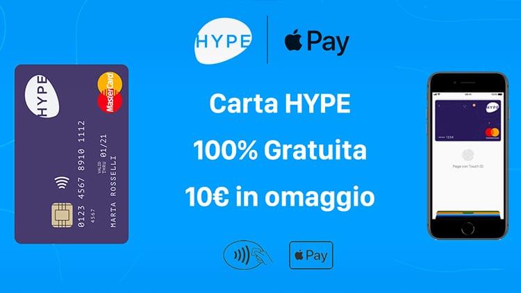 Continua la promozione HYPE che regala 10€ ai nuovi iscritti