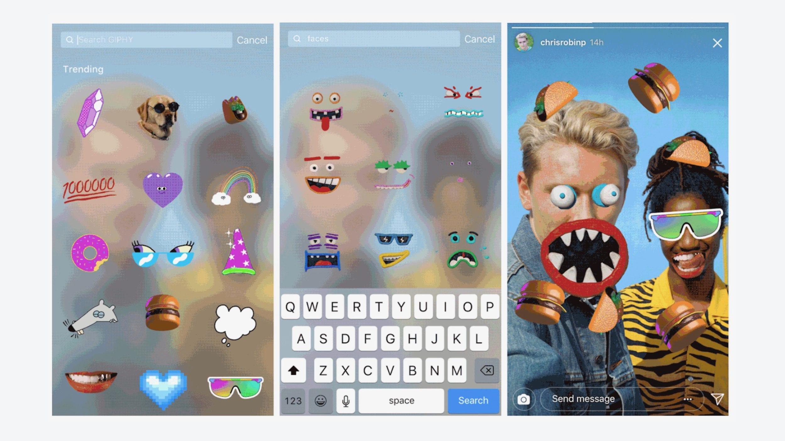 Instagram e Snapchat rimuovono il supporto alle GIF perché contengono contenuti offensivi