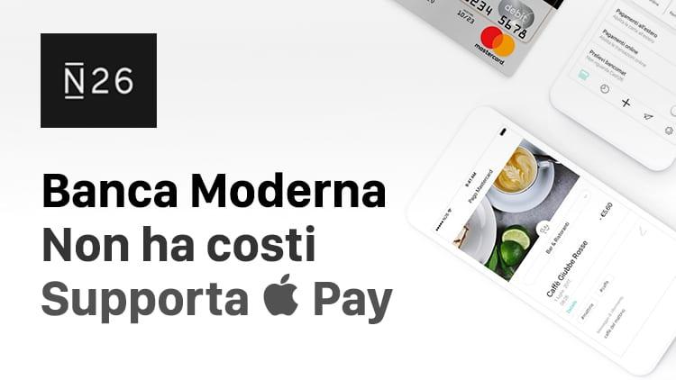 N26, la banca moderna senza costi e che supporta Apple Pay: scopriamola insieme