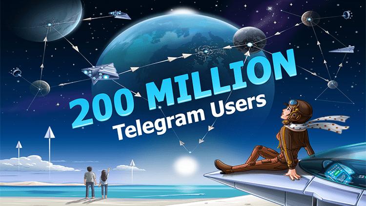 Telegram raggiunge 200 milioni di utenti attivi mensili