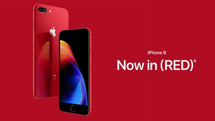 Apple lancia gli iPhone 8 rossi (Product)RED. Disponibili dal 10 Aprile con il fronte nero!