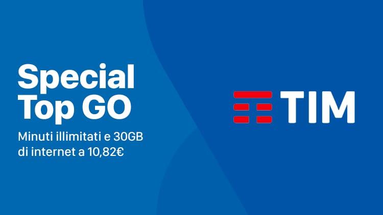 Tim Special Top Go: minuti illimitati e 30GB di internet a 10,82€ per chi effettua la portabilità da 3