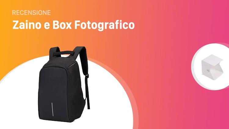 Recensione Zaino impermeabile, anti-ladro e con vano per batteria esterna + Box Fotografico