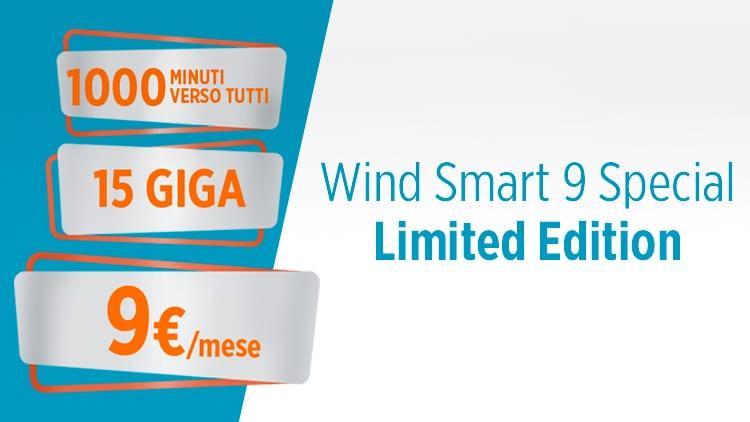 Wind Smart 9 Special: 1000 minuti e 15 GB a 9€ al mese
