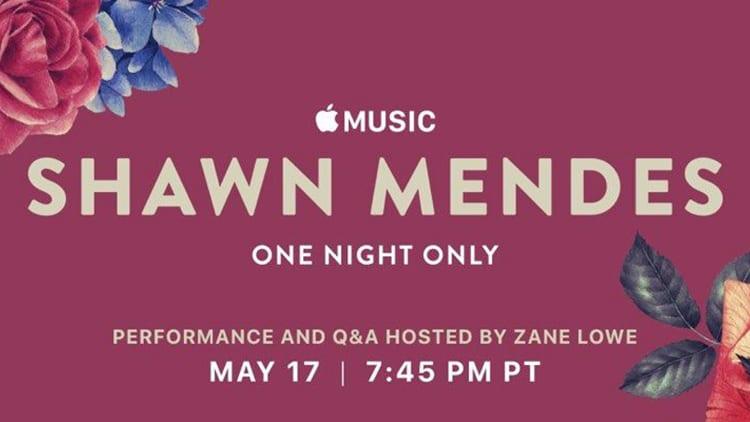 Apple Music e Shawn Mendes insieme per un concerto a Los Angeles