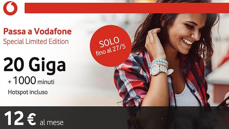 Vodafone Special 20 GB attivabile da tutti con portabilità del numero!