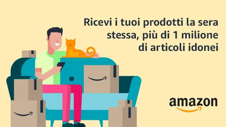 """Amazon lancia """"Consegna Oggi"""" ed i pacchi arrivano la sera stessa nell'area di Milano. Gratis per i clienti Prime"""
