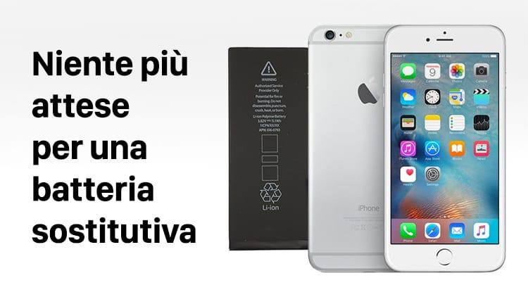 Niente più attese per ottenere una batteria sostitutiva per iPhone a 29€