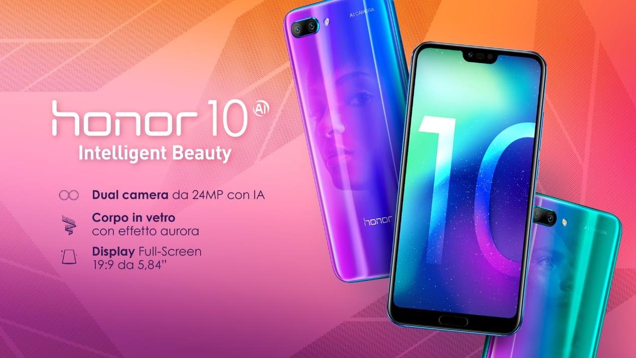 Honor 10 è ufficiale: Ecco i prezzi, foto e caratteristiche dello smartphone con AI presentato a Londra
