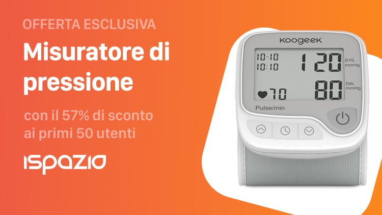 Offerta esclusiva: Misuratore di pressione da polso Smart Koogeek con il 57% di sconto ai primi 50 utenti iSpazio
