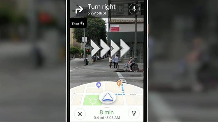 Google Maps si arricchisce di novità come l'ibrido tra Realtà Aumentata e Mappa