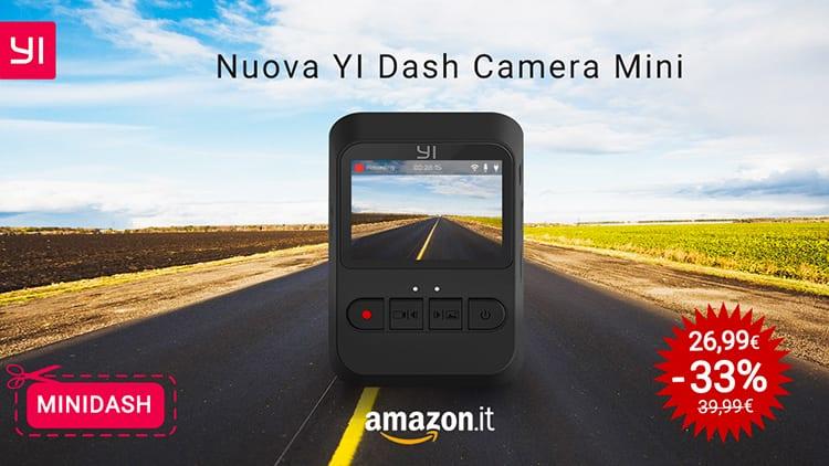 Yi presenta la nuova Dash Camera Mini, in offerta lancio su Amazon soltanto per oggi
