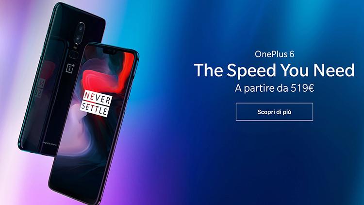 OnePlus 6 è ufficiale: Tra i più potenti ma alla metà del prezzo. Già prenotabile su Amazon!