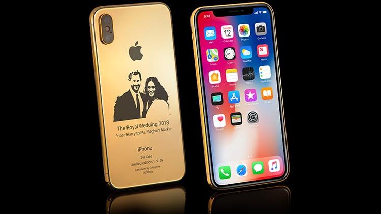 Royal Wedding: Goldgenie realizza un iPhone X in oro 24K con la foto di Harry e Meghan