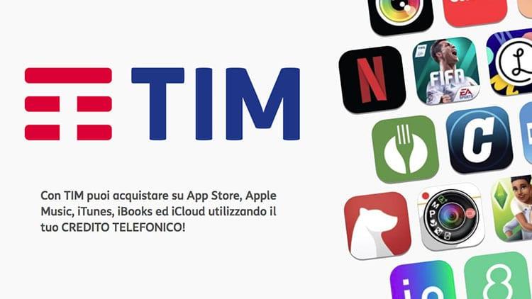 TIM: credito telefonico utilizzabile per acquisti su App Store e non solo