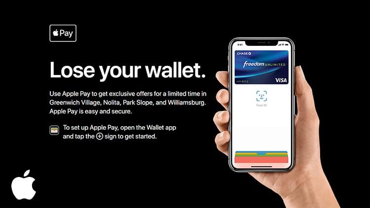 """Vi trovate a New York? Con Apple Pay avrete sconti esclusivi grazie all'evento """"Lose Your Wallet"""""""