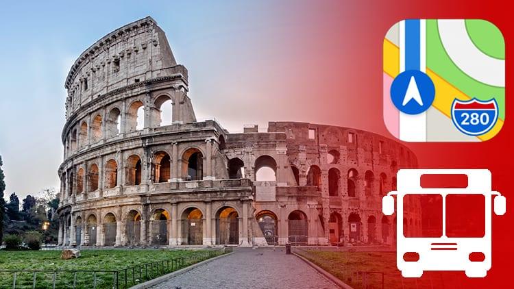 Apple Maps: disponibili le informazioni sui trasporti pubblici per la città di Roma