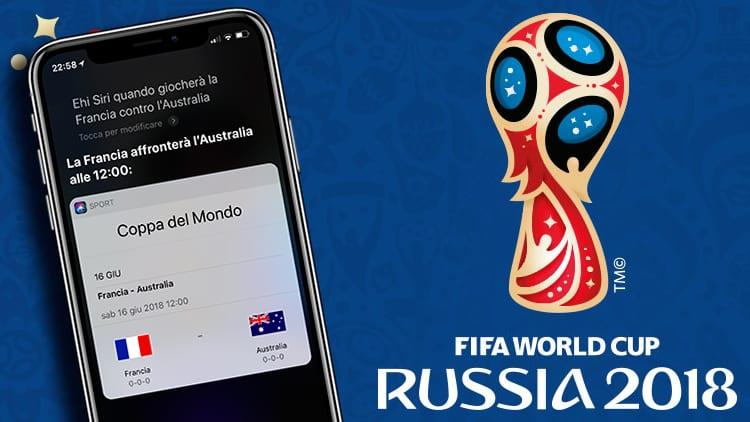 Apple aggiorna Siri, e non solo, con le informazioni sul Mondiale di Russia 2018