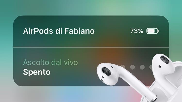 """Novità inedita su iOS 12: introdotta la funzione """"Ascolto dal Vivo"""" in abbinamento con le AirPods"""