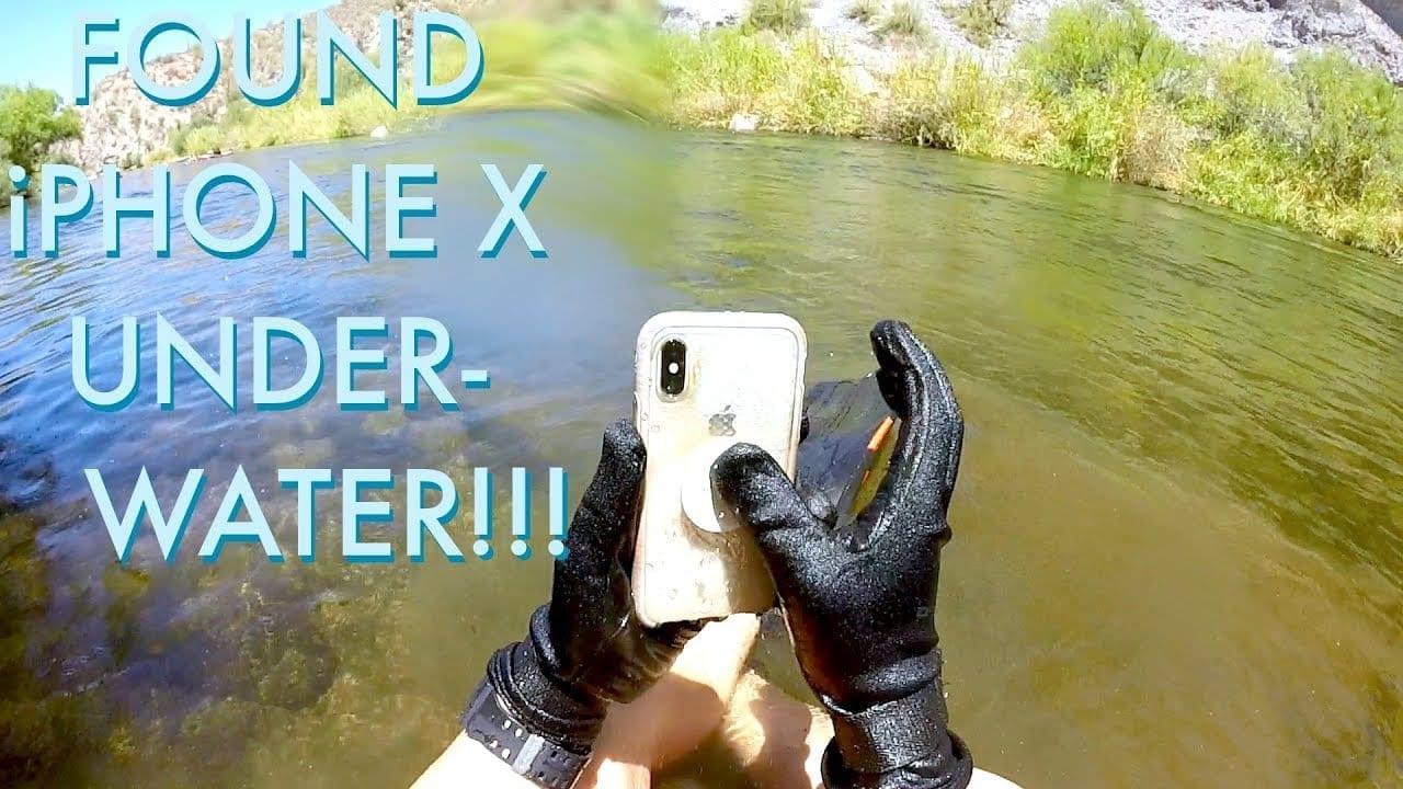 iPhone X ritrovato funzionante dopo due settimane trascorse in un fiume [Video]