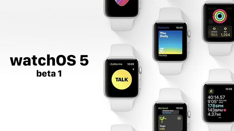 Apple rilascia nuovamente watchOS 5 Beta 1 agli sviluppatori